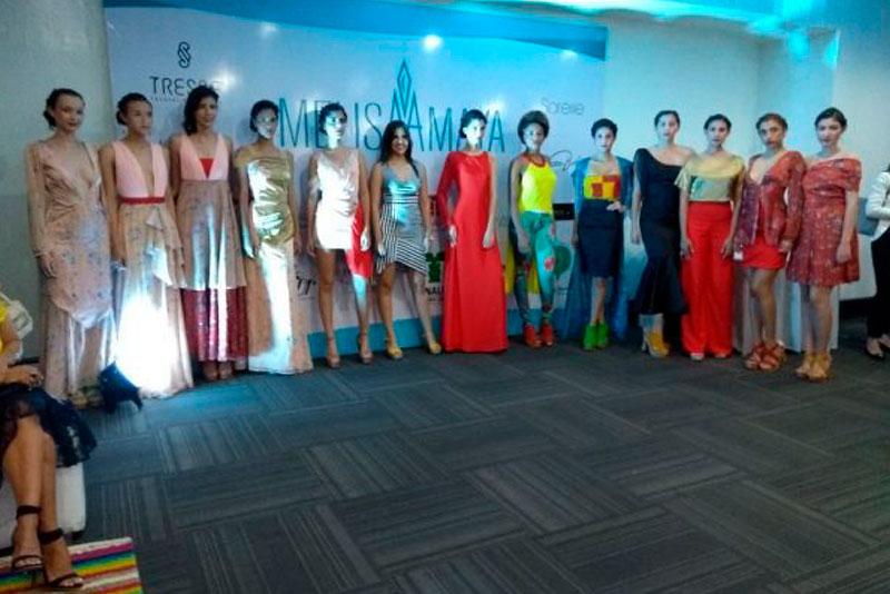 Moda y colores durante el lanzamiento de la nueva colección de la diseñadora santandereana Melisa Amaya